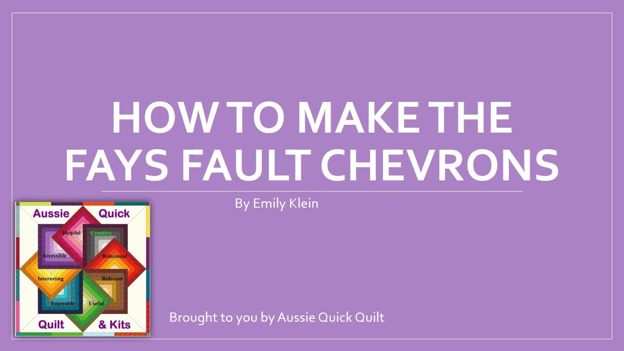AQQ How to make the Fays Fault chevrons
